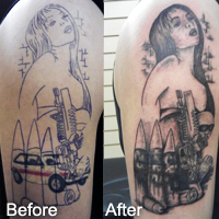 Tattoo cover up, West Coast Tattoos in Blackpool
